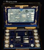 Fully Fitted Coromandel Sewing Box by Parkins and Gotto Circa 1860