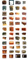  thumbnail index of tea caddies and chests